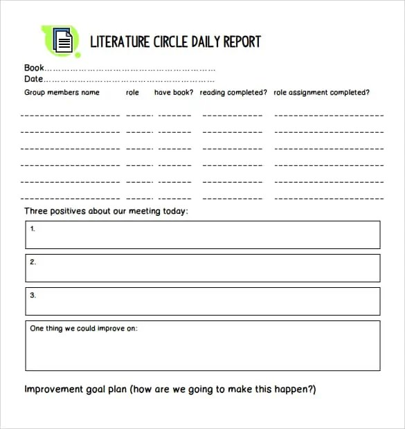 daily report template 10.4