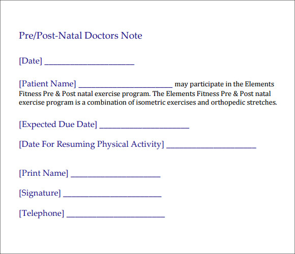 doctors note template 476