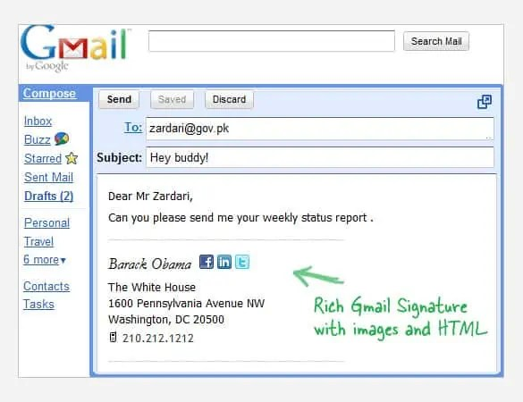 6+ Best Email Signatures - Website, Wordpress, Blog