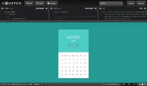 html calendar template 564
