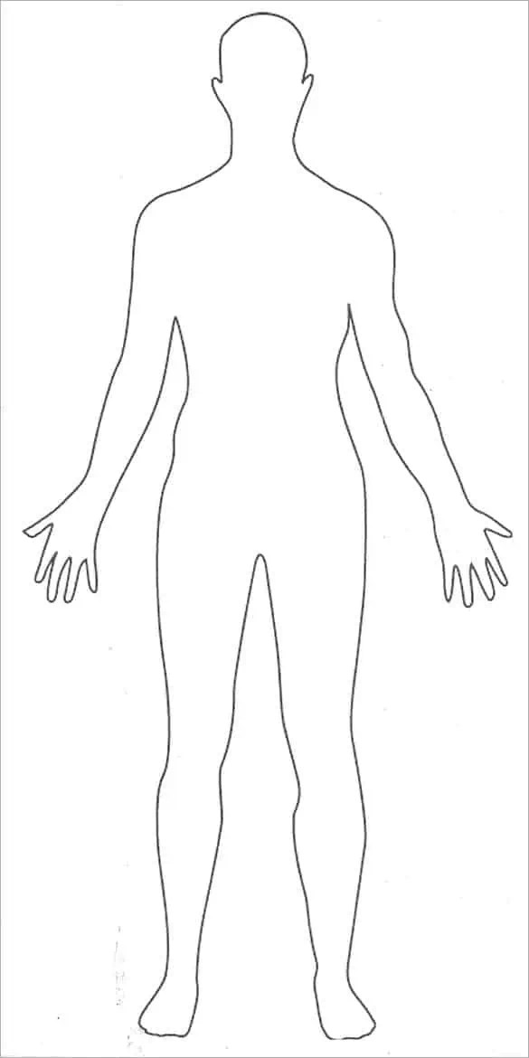 It is a graphic of Terrible Printable Human Body Outline Template Pdf
