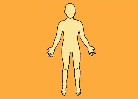 human body outline 9741