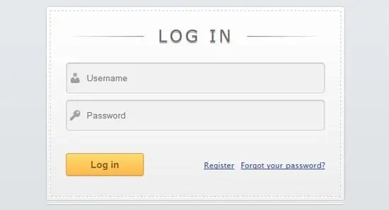 login page template 91