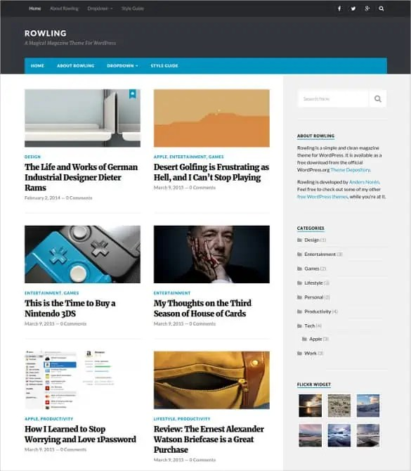 news blogger theme 13.