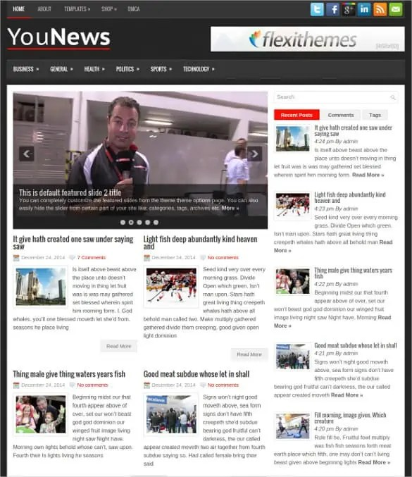 news blogger theme 8946