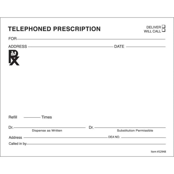 prescription template 89641