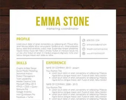 resume templates for mac 12