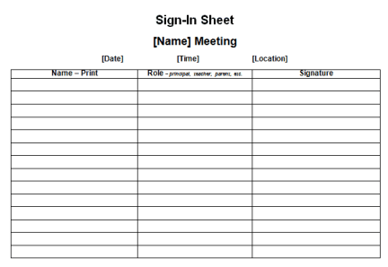 sign in sheet template 7641