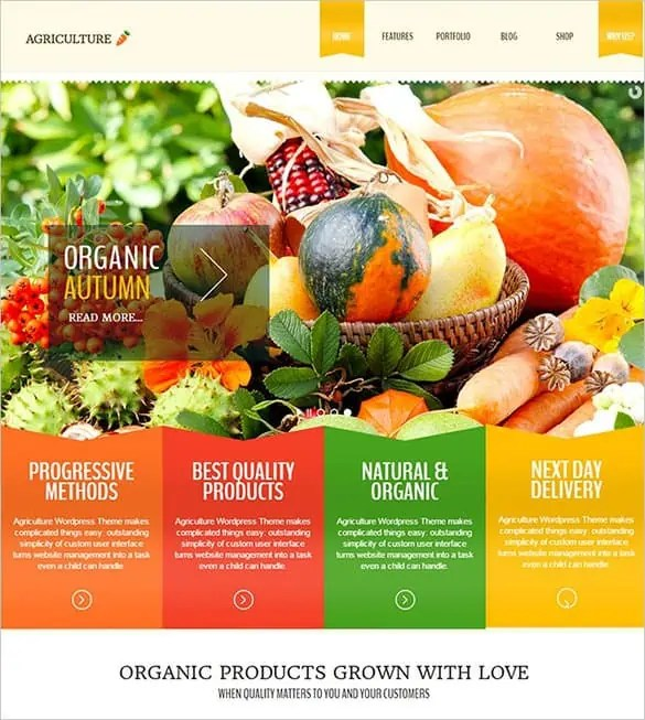 Agriculture Website Templates Free 14