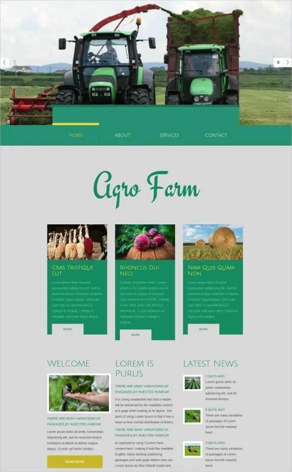 Agriculture Website Templates Free 364