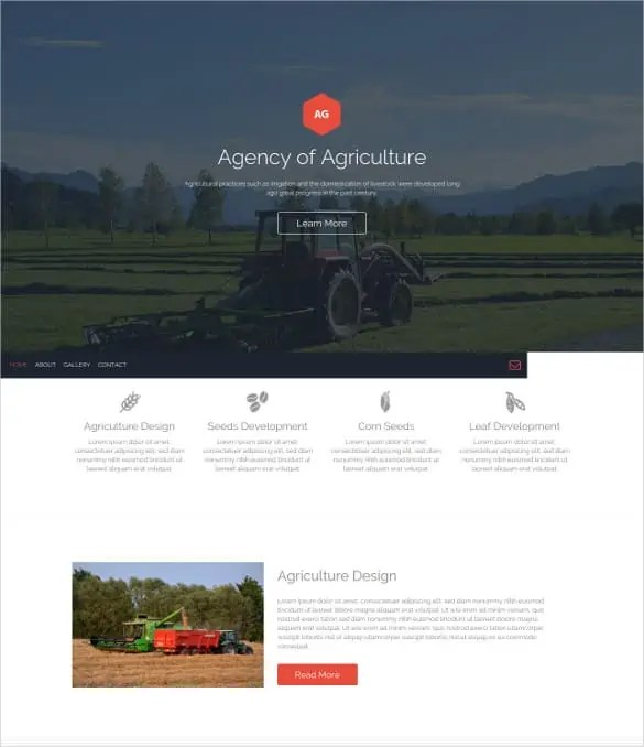 Agriculture Website Templates Free 497
