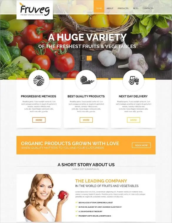 Agriculture Website Templates Free 597