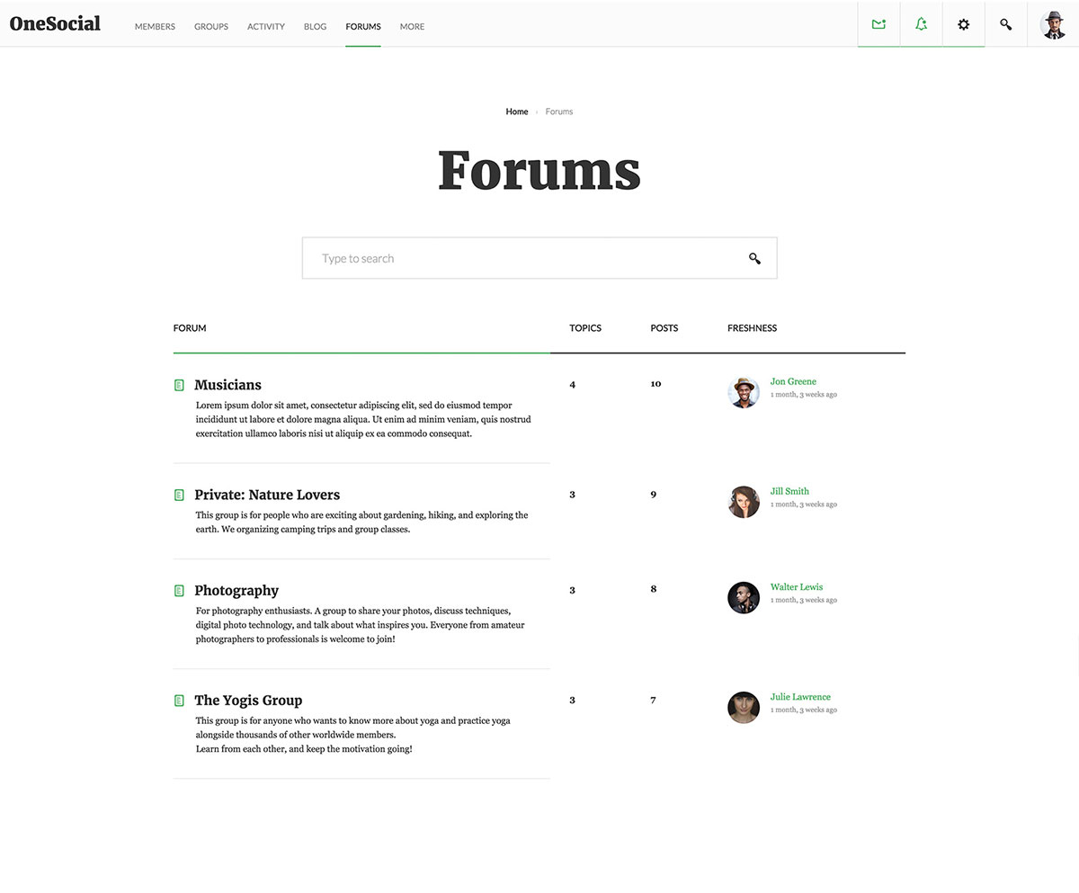 forum tamplate