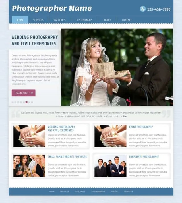 dynamic website template 698