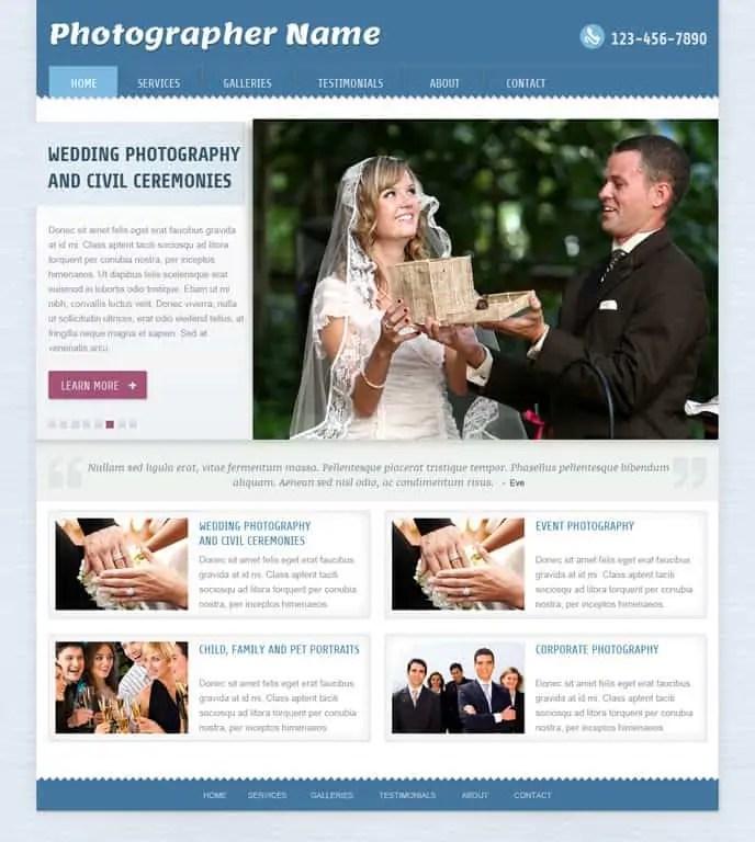 dynamic website template 698