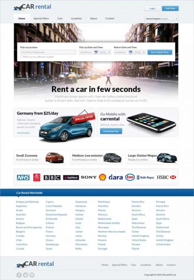 dynamic website template 79