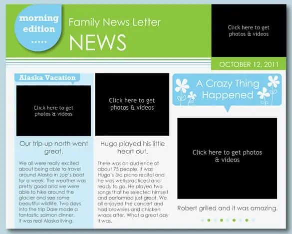 family newsletter template 111