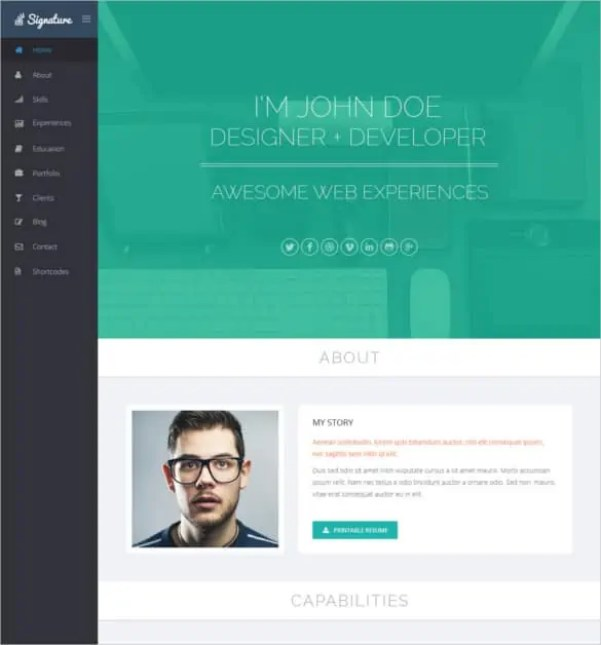 html resume template 24