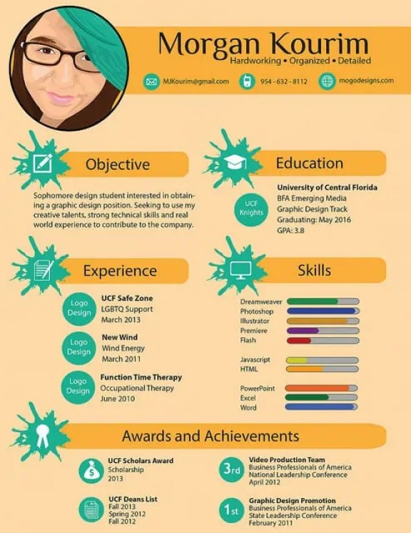infographic cv template 3685