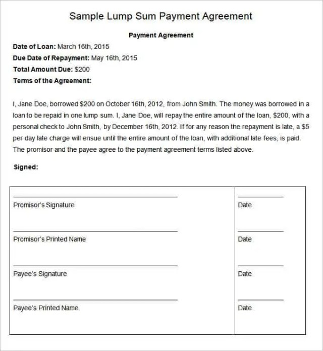 payment plan agreement 346