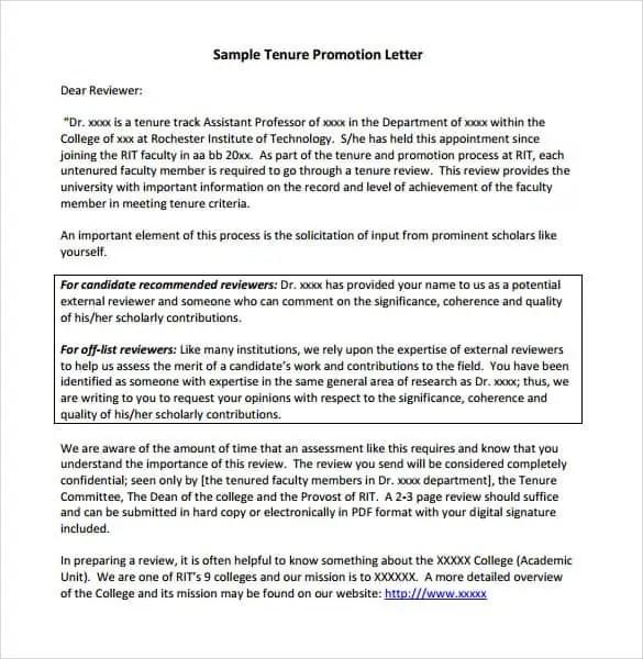promotion letter 330