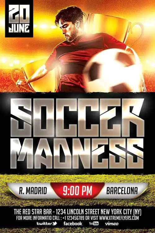 soccer flyer template 220