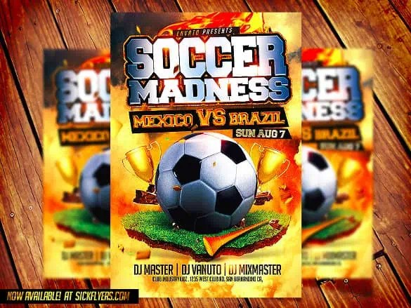 soccer flyer template 440
