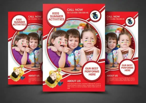 summer camp flyer template 110