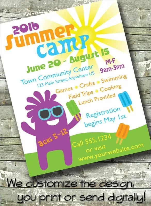 summer camp flyer template 990