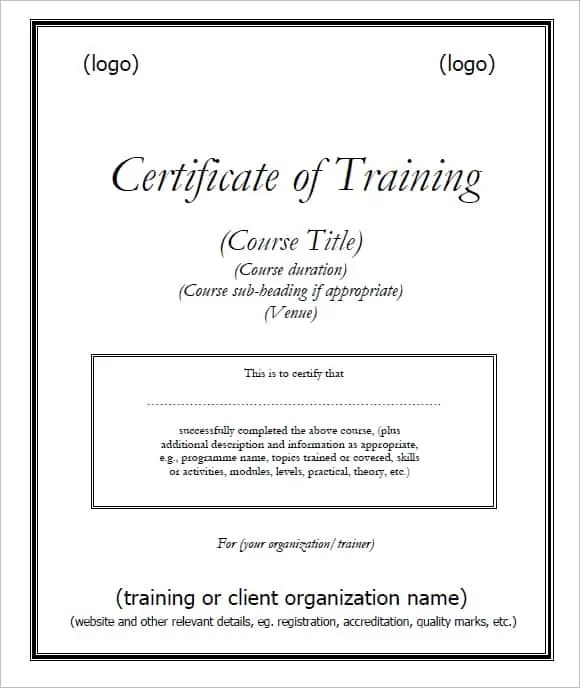 6 Training Certificate Templates Website Wordpress Blog – Training Certificate Template Free Download