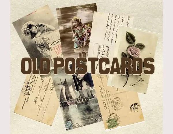 vintage postcard template 770