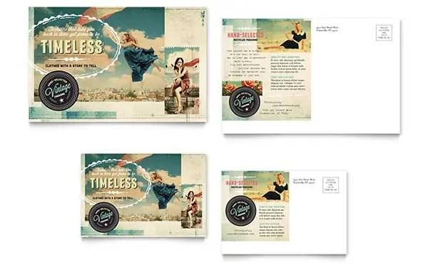 vintage postcard template 880