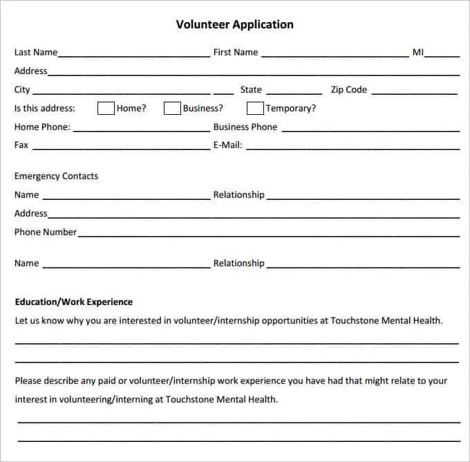volunteer application 440