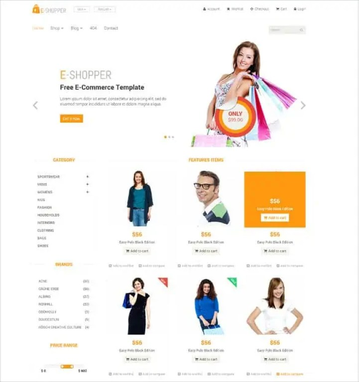 Ecommerce HTML5 Templates 12