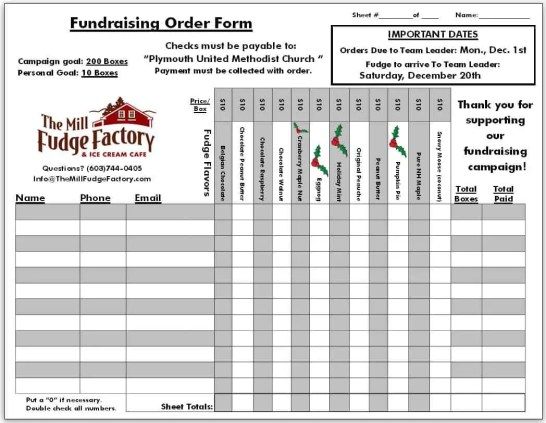 Fundraiser Order Form Templates  Website Wordpress Blog
