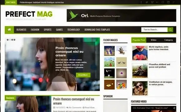 News Mag Blogger Templates 82