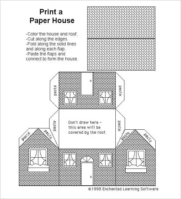 Free Paper House Templates Are Here
