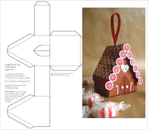 Paper House Template 42