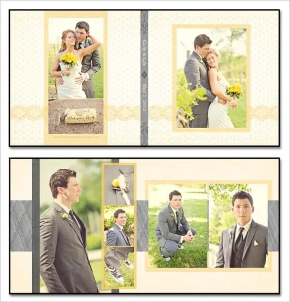 Photo Album Examples: 6+ Wedding Album Templates