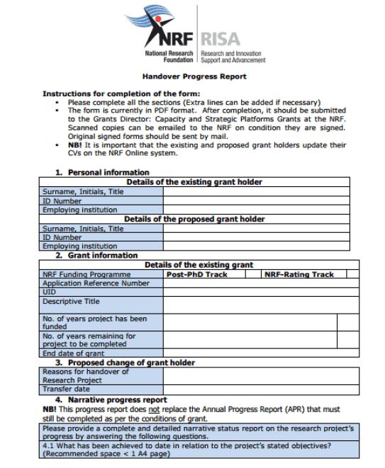 6  handover report templates