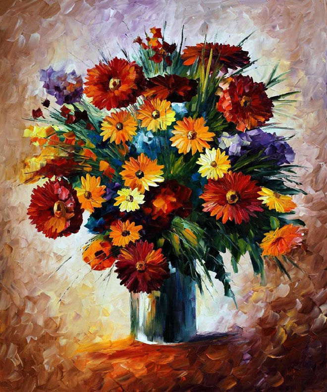 15 Beautiful And Realistic Flower Paintings Templates