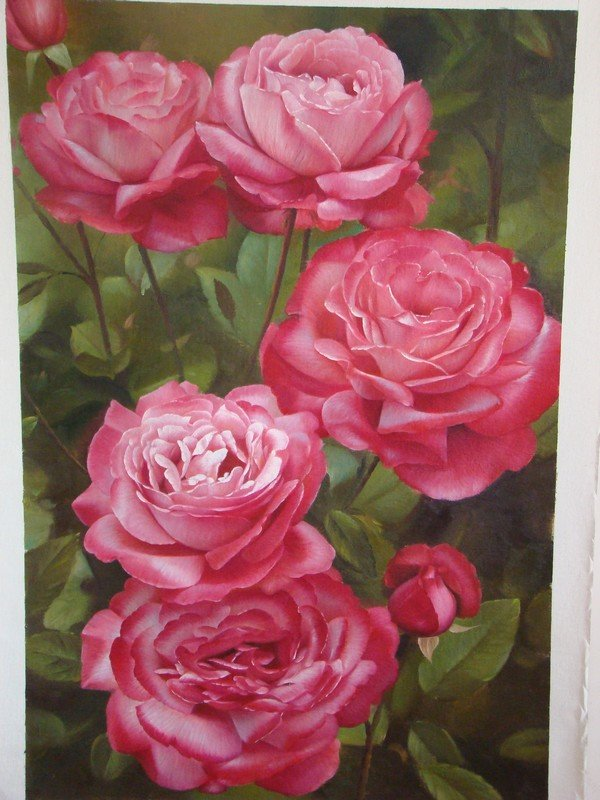 15 Beautiful And Realistic Flower Paintings Templates Perfect