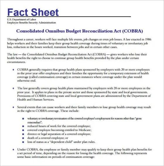 Fact Sheets Templates  Resume Ideas  NamanasaCom