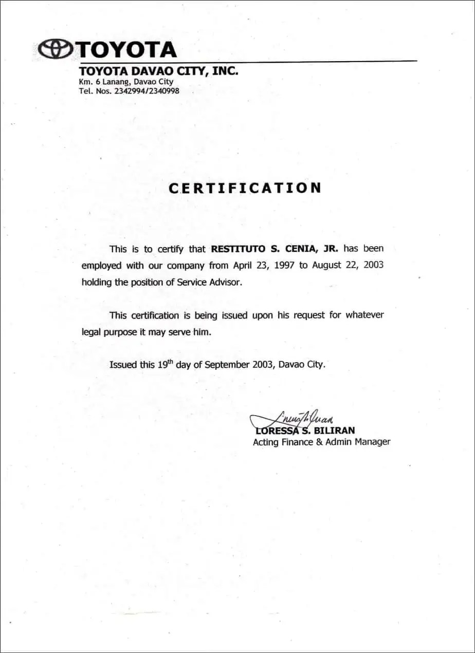 inspiration certificate employment sample staff nurse choice image how to make certificate of employment