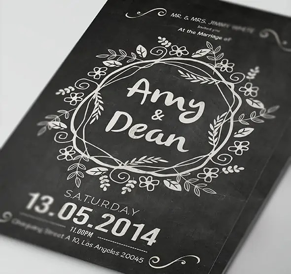 Chalkboard Invitation Templates - Word Excel Samples