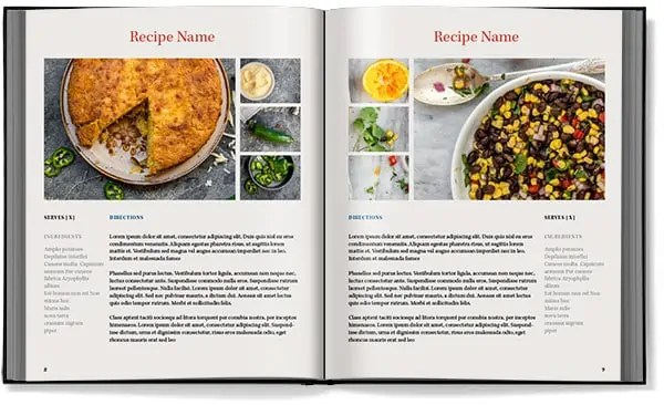 cookbook template for word
