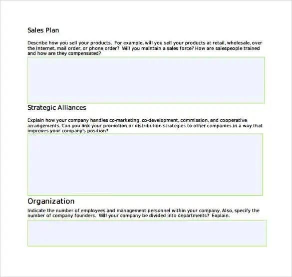 Sales Plan Templates Word Excel Samples – Sales Planner Template