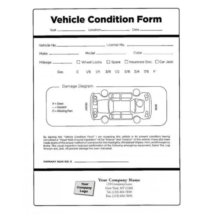 vehicle condition report templates