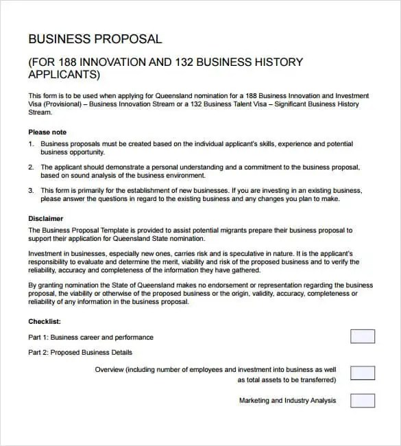 Business Proposal Templates - Word Excel Samples