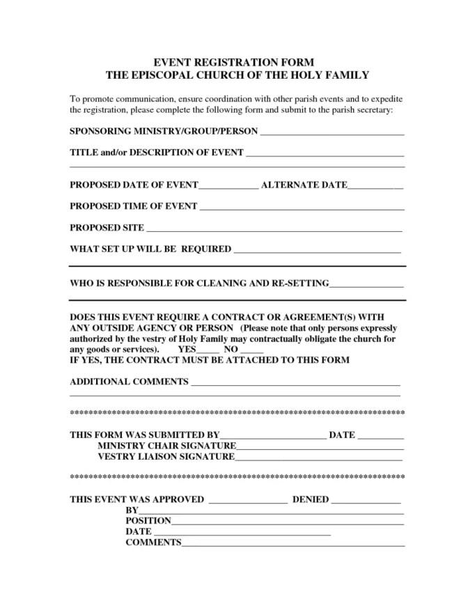 printable registration form template 50